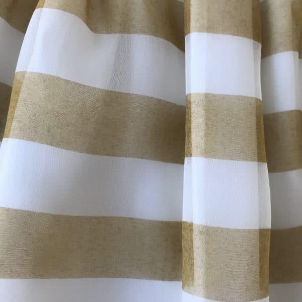 Skirt gold stripes detail