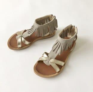 sandals fringe front
