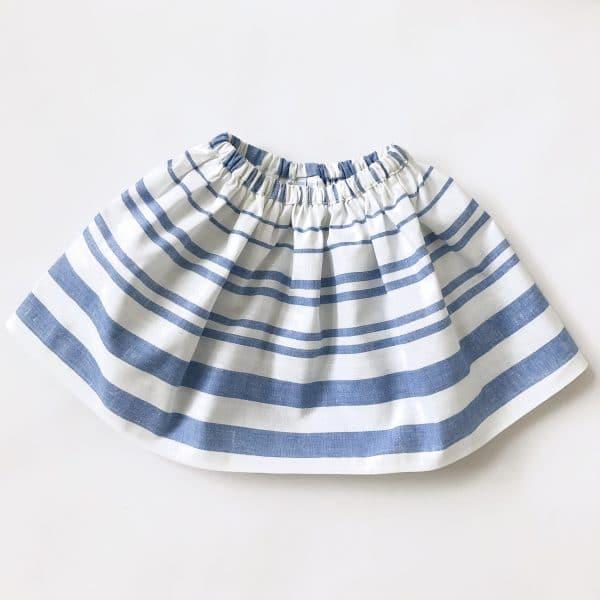 striped marine skirt