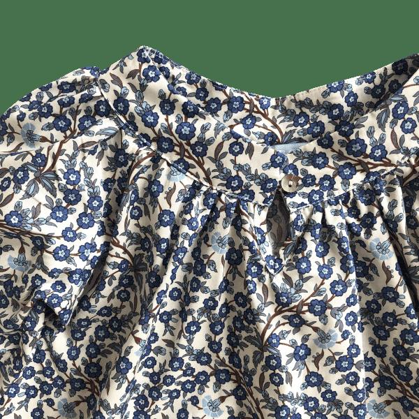 Luna blouse detail blue